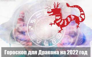 Гороскоп на 2022 год для Дракона