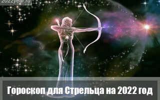 Гороскоп для Стрельца на 2022 год