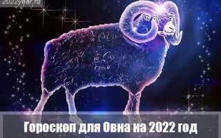 Гороскоп для Овна на 2022 год