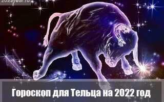 Гороскоп для Тельца на 2022 год