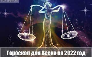 Гороскоп для Весов на 2022 год