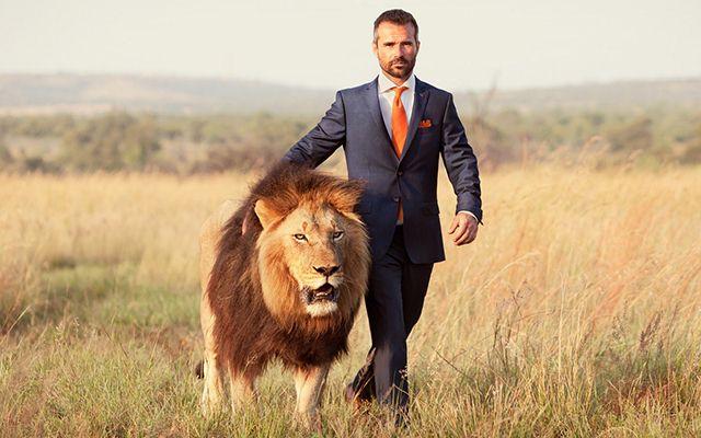 мужчина лев