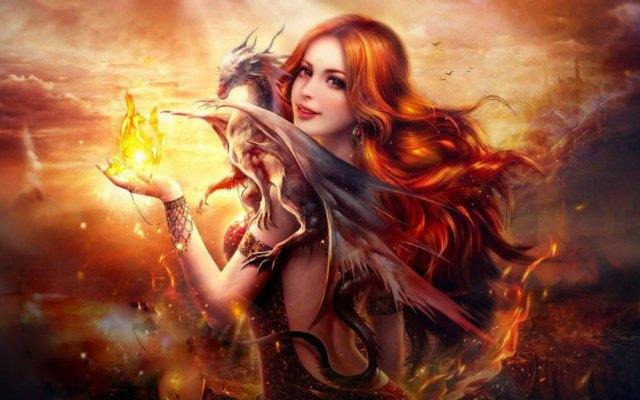 женщина и дракон