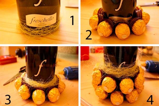 ананас из бутылки шампанского и конфет