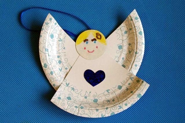 ангелочек из бумажной тарелки